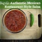 Simple authentic mexican restaurant style salsa