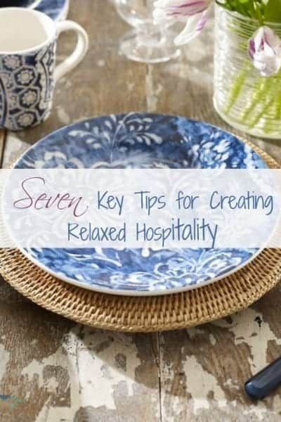 seven key tips for creating relaxed hospitality