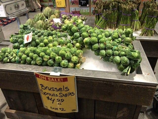 Brussel Sprouts On Stalks