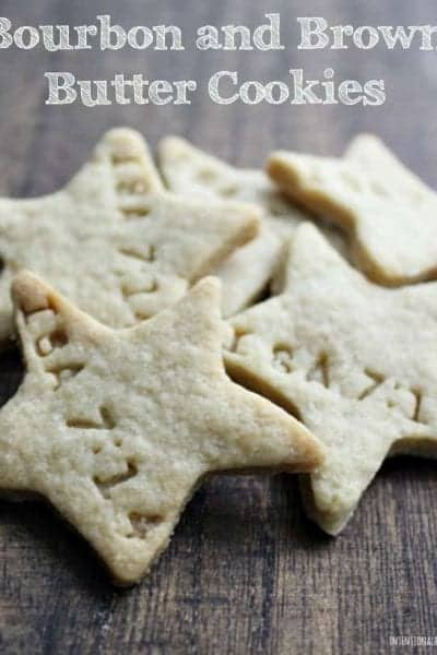 Bourbon and Brown Butter Cookies