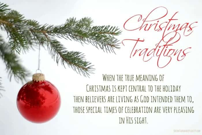When the true meaning of Christmas is kept central to the holiday then believers are living as God intended them to, those special times of celebration are very pleasing in His sight.