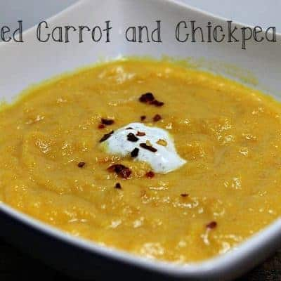 Roasted Carrot and Chickpea Soup
