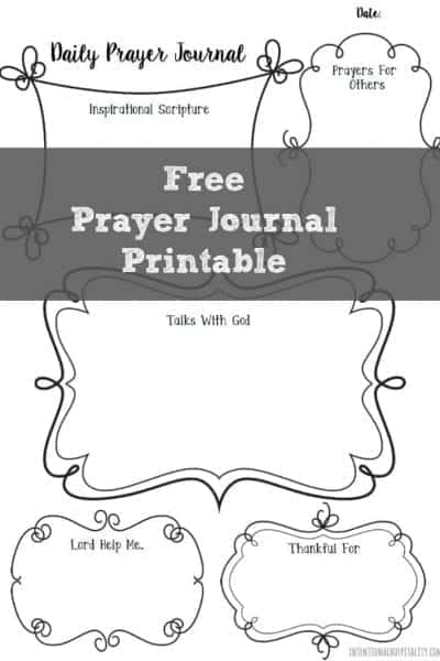 Free Daily Prayer Journal Printable | n our fast paced world, it can be difficult to sit down and have a quiet time with your Heavenly Father. I have found one of the best ways to carve out this time is to include writing my thoughts and prayers to Him as part of my Morning Routine and I would like to share this free prayer journal printable I created with my readers.