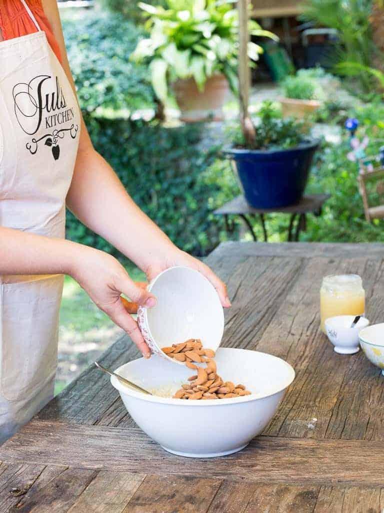 Making Biscotti Italian Style Recipe Adding Almonds