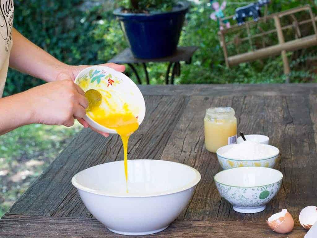 Making Biscotti Italian Style Recipe Egg Mixture