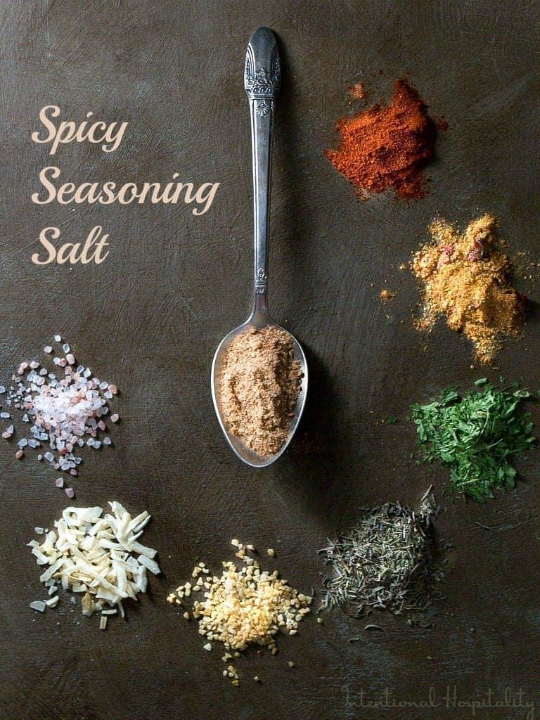 Spicy seasoning salt