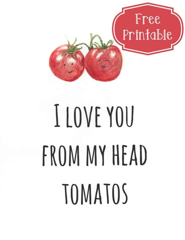 Tomato Love Free Printable | Intentional Hospitality