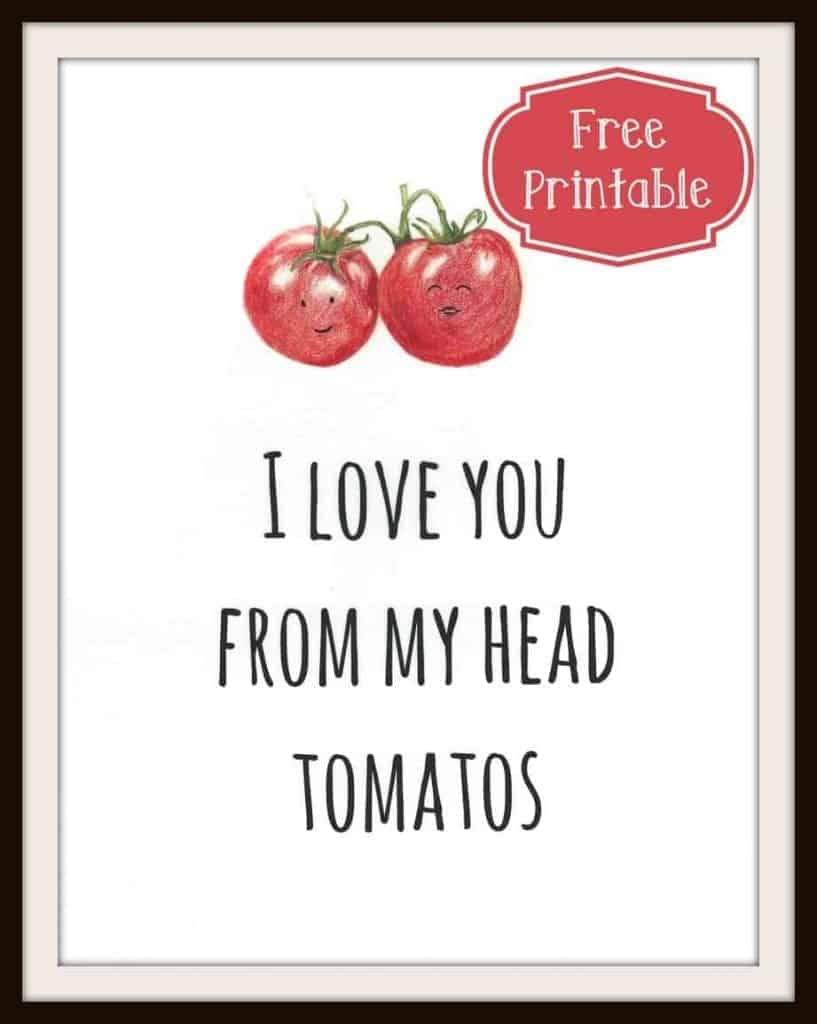 Tomato Love Free Printable | Intentional Hospitality
