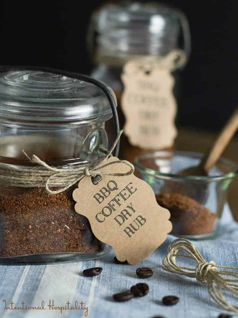 BBQ Coffee Dry Rub in a jar