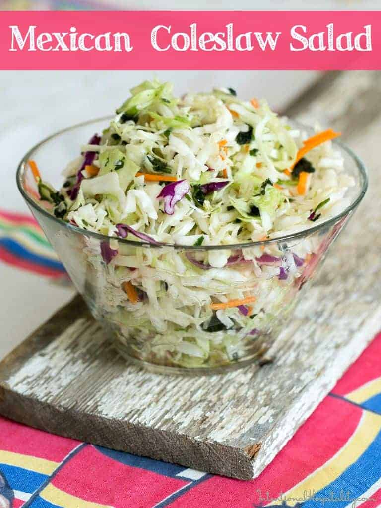 Mexican Coleslaw Salad in a bowl