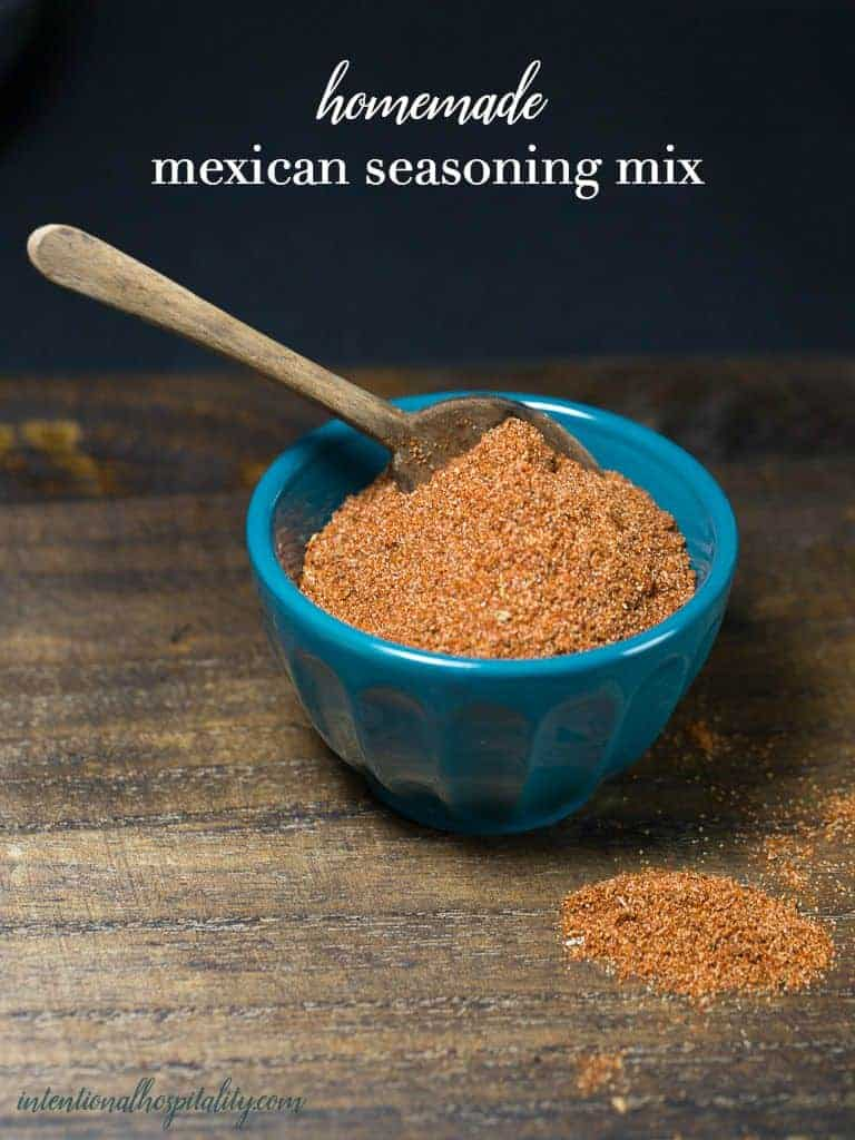 Making your own Homemade Mexican Seasoning Mix is very easy and allows for you to set the spice level to your own liking.