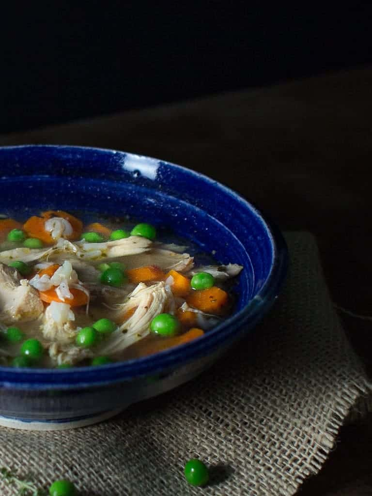 I'm sharing a secret with you, one of the best ways to make easy delicious homemade chicken soup is to start with a rotisserie chicken.  It is the base to my Greek Lemon Rotisserie Chicken and Rice Soup, which is always a hit with family and friends on a cold weather day.