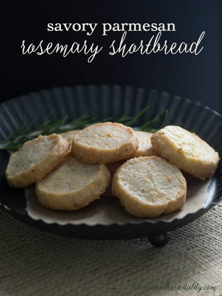 SavoryParmesan and Rosemary Shortbreads are easy to make and elegant to serve.