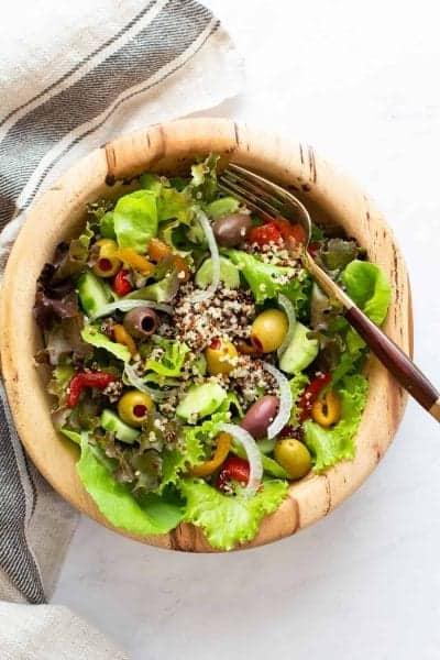 mediterranean salad in a bowl