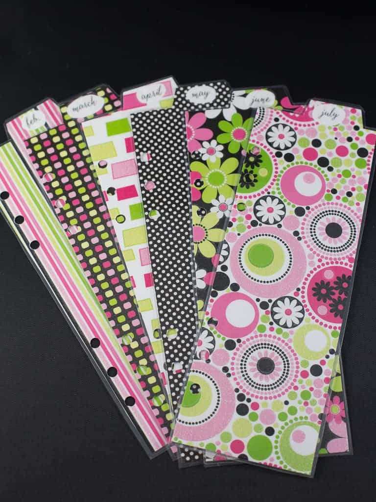 planner tabs to print