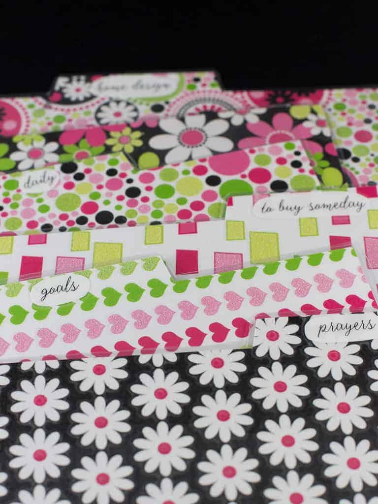 planner dividers lables
