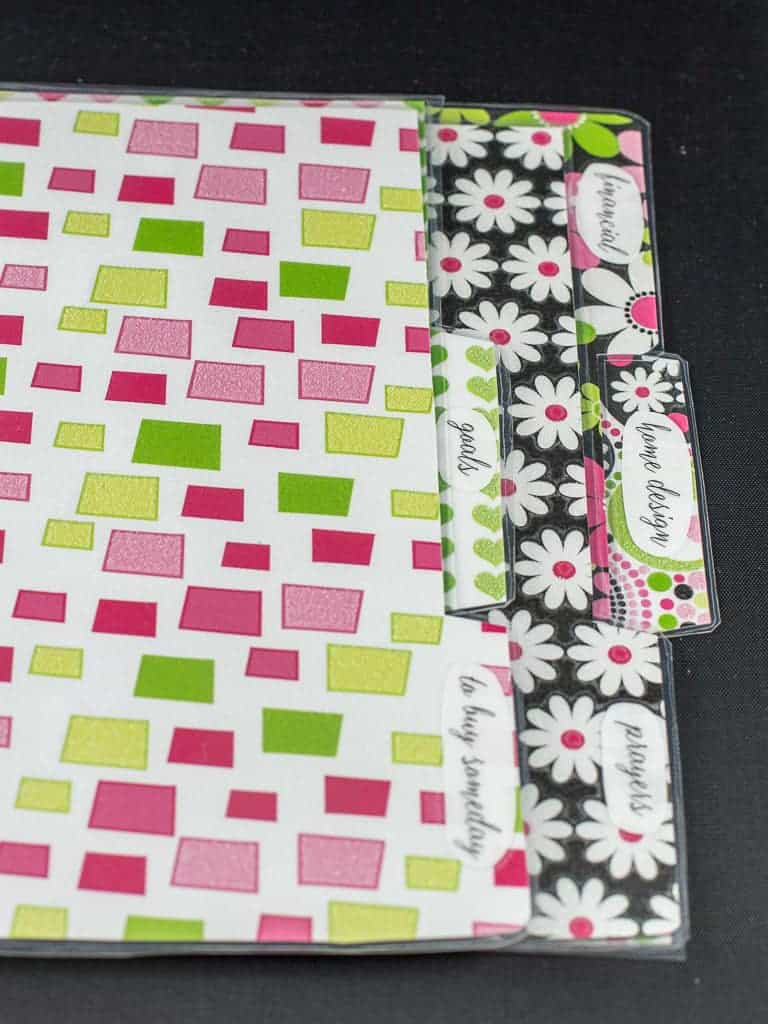 planner dividers to print