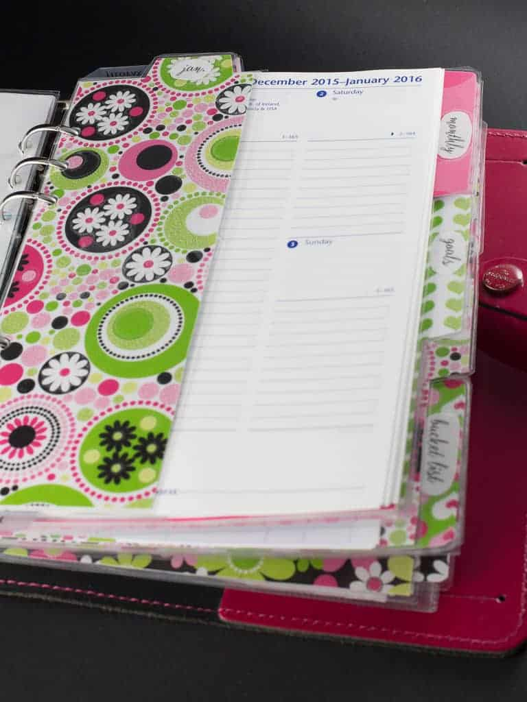 planner dividers and tabs for filofax