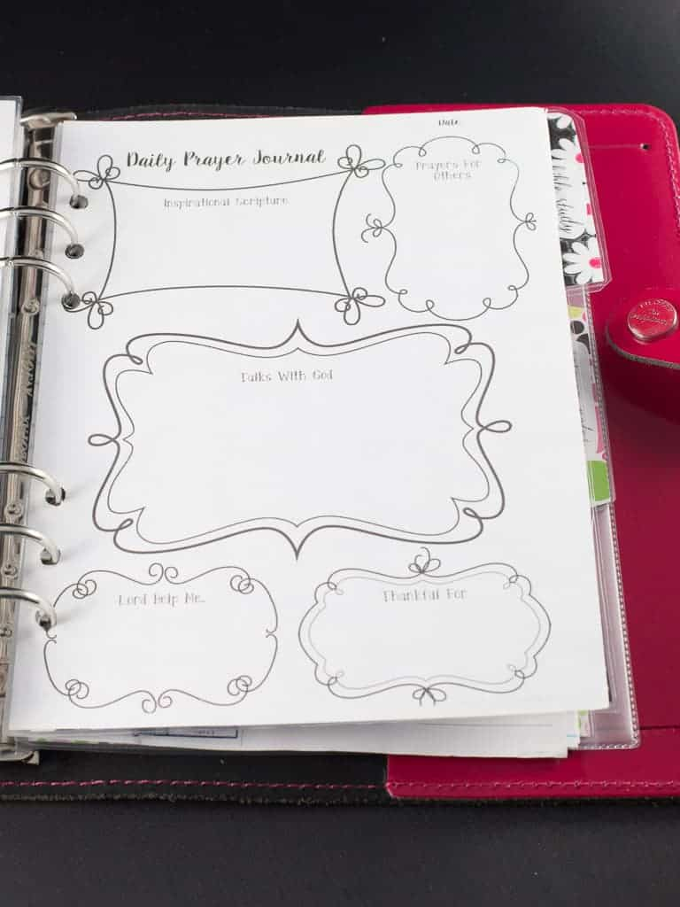 Free A5 prayer journaling page printable