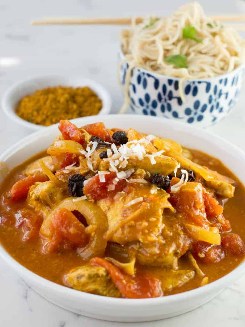 Curried Coconut chicken is a sweet and spicy exotic-tasting dish that ...