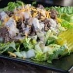 Hungry for a Big Mac but don't want the calories? Try whipping a light and delicious Cheeseburger salad with Big Mac Sauce Salad Dressing to satisfy your hunger.