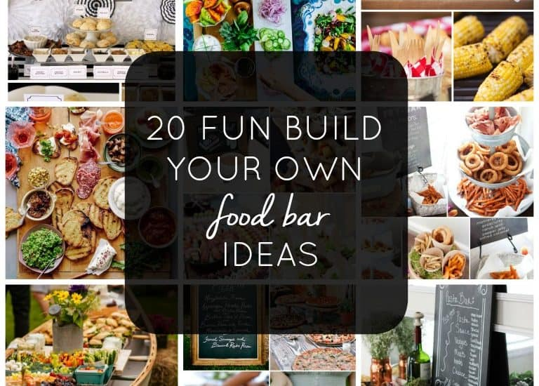 Create some fun and easy get togethers with friends using these 20 Fun Build Your Own Food Bar Menu Ideas. Food bars create an informal atmosphere that you can prepare before your guest arrive which allows you to relax and enjoy spending time with your guest.