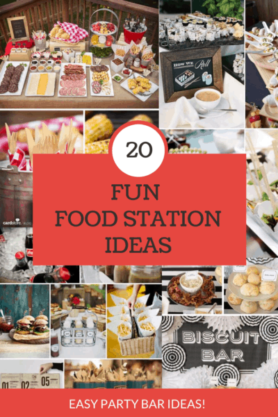 20 fun food station pictures of food