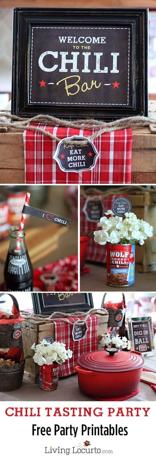 Chili Bar Party with free printables