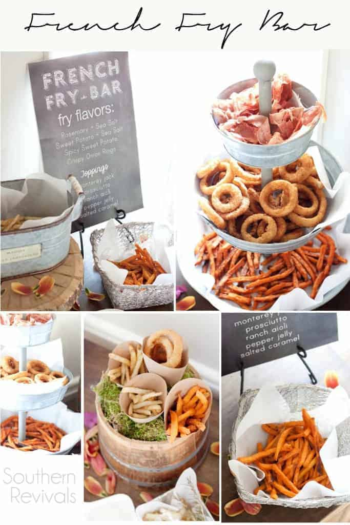 Create your own french fry food bar