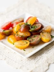 If you need a quick and easy salad that reminds you of summer then try this Fresh Tomato Salad With Italian Herbs.