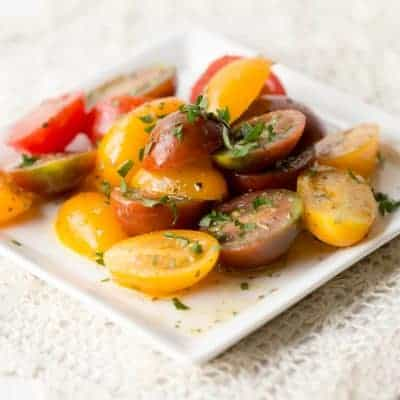 Fresh Tomato Salad With Italian Herbs