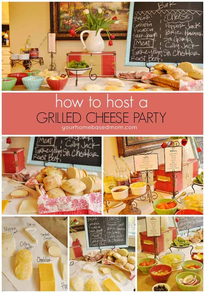 Dinner Party Fun Ideas Part - 26: Grill Cheese Bar