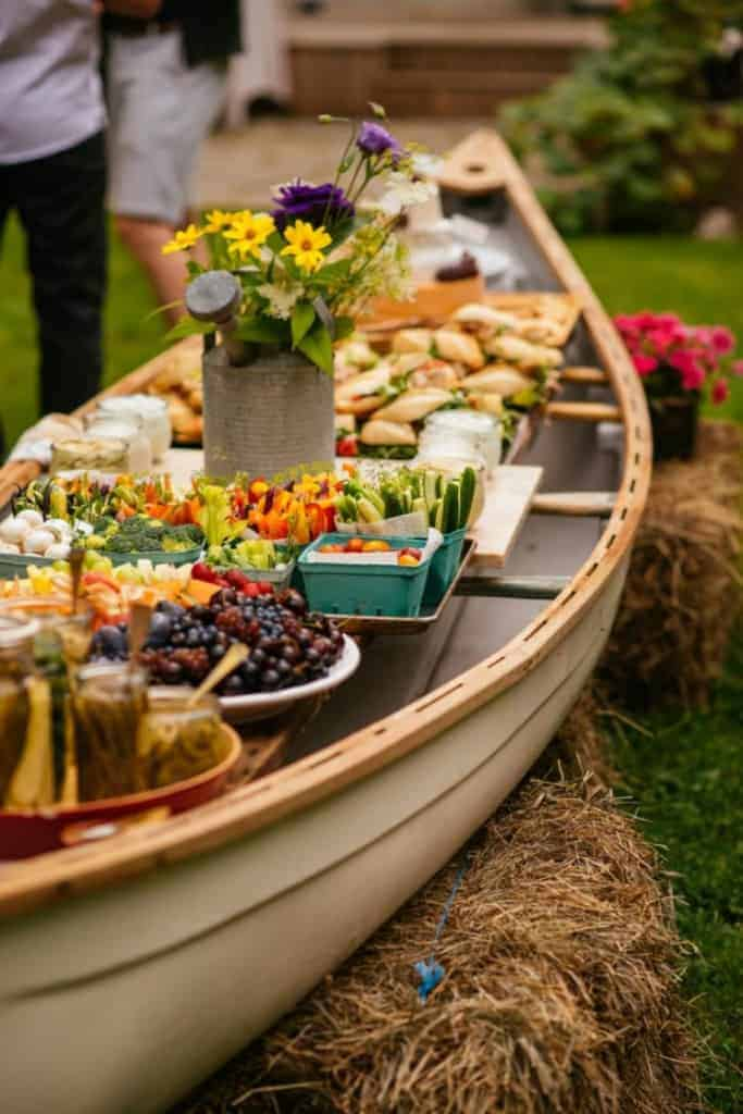 Sandwich bar in a boat