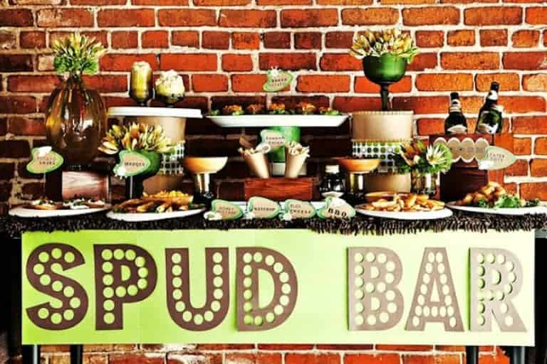 Build your own baked potato bar