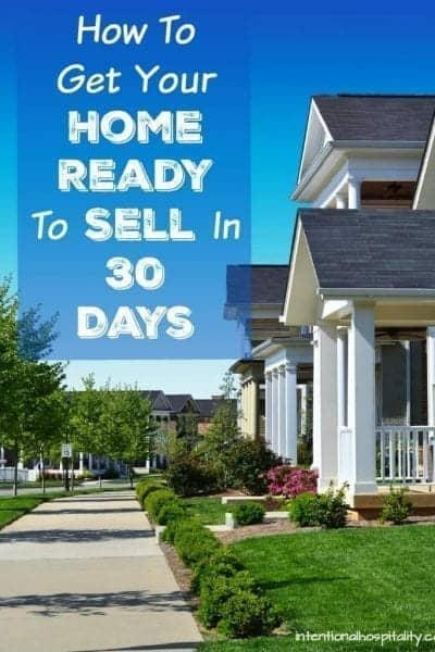 How To Get Your Home Ready To Sell In 30 Days Free Printable