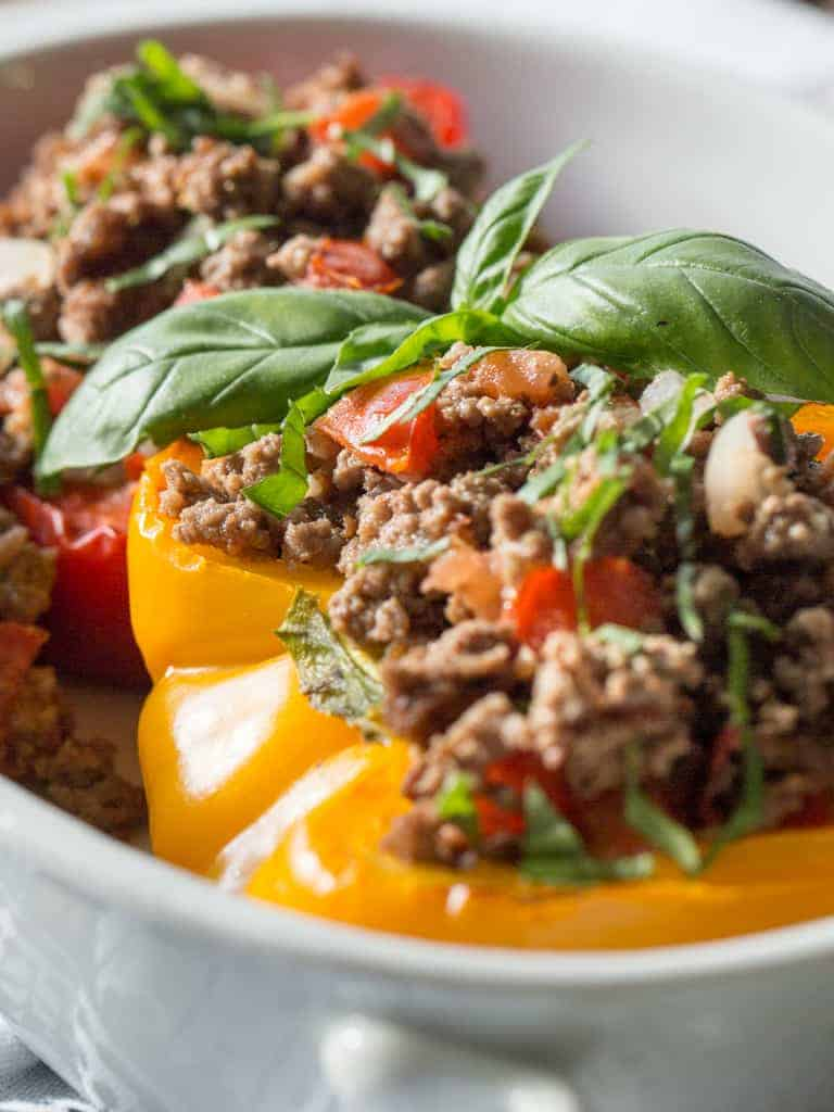 Italian Style Stuffed Paleo Peppers | Intentional Hospitality