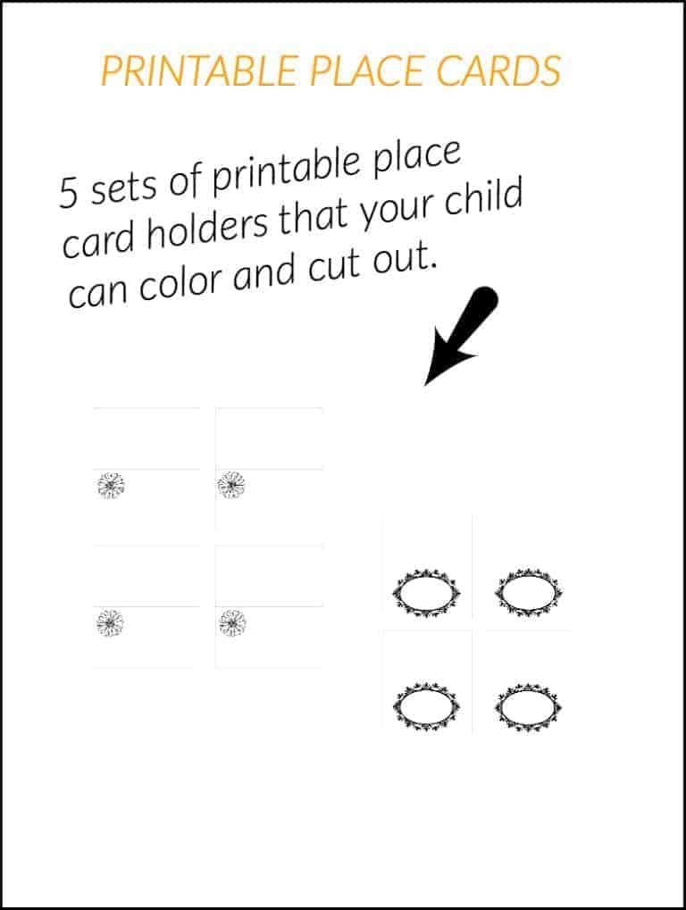 Place Card Printable