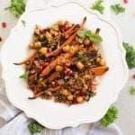 Roasted Carrots Chickpea Salad