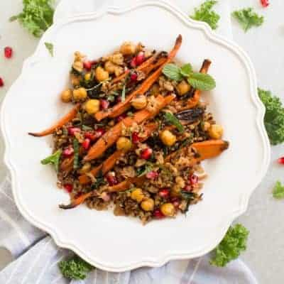 Roasted Carrot Chickpea Salad
