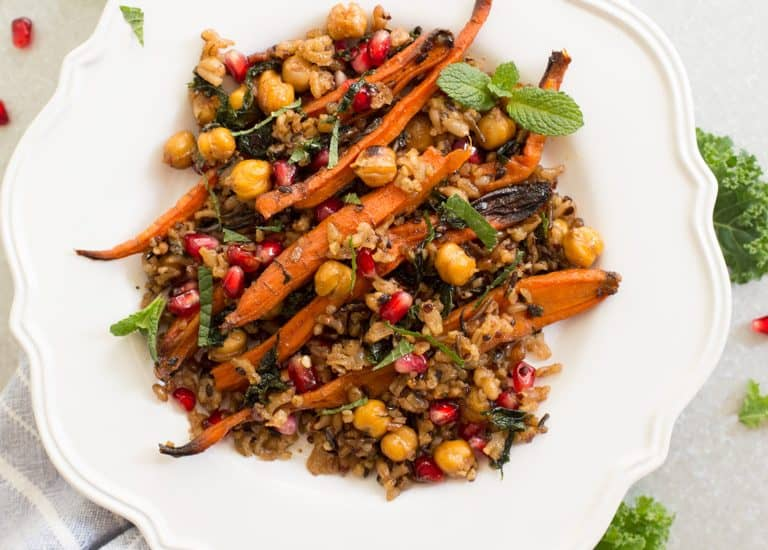 Roasted Carrots Chickpea Salad