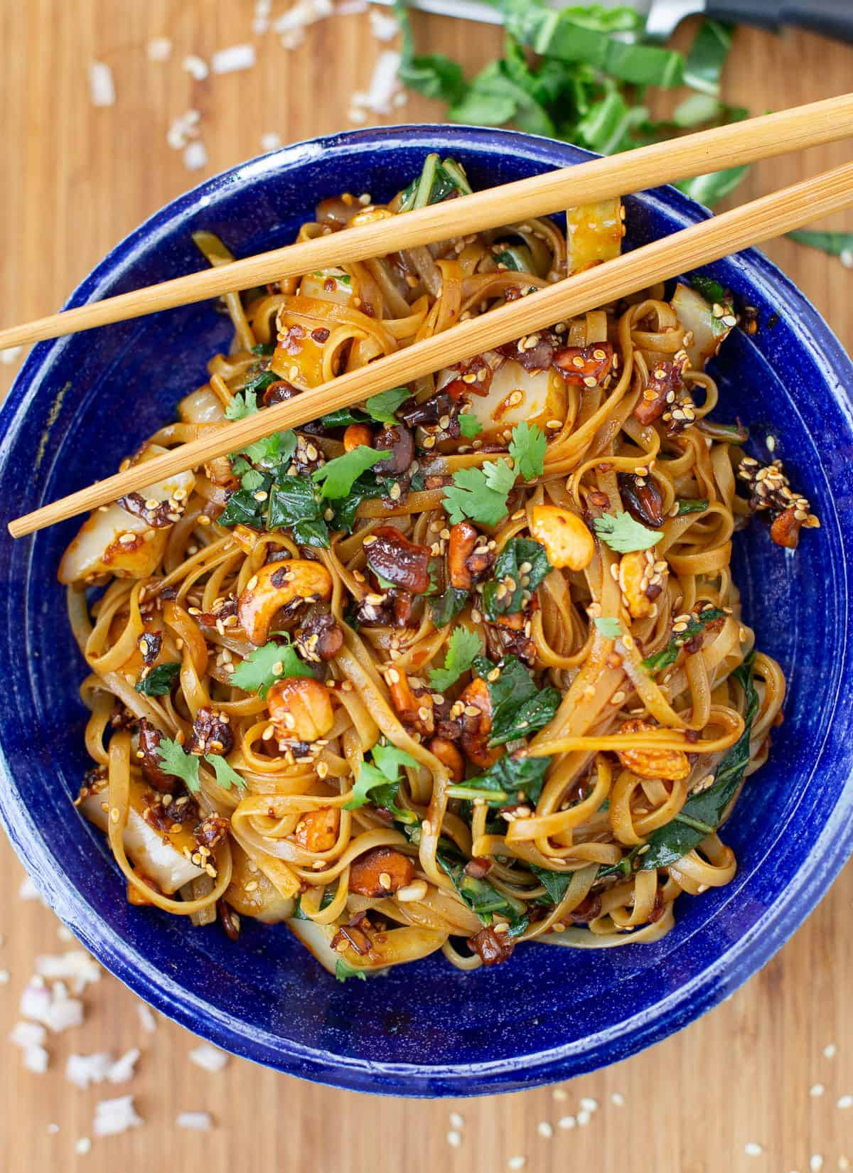 asian noodles in a bowl