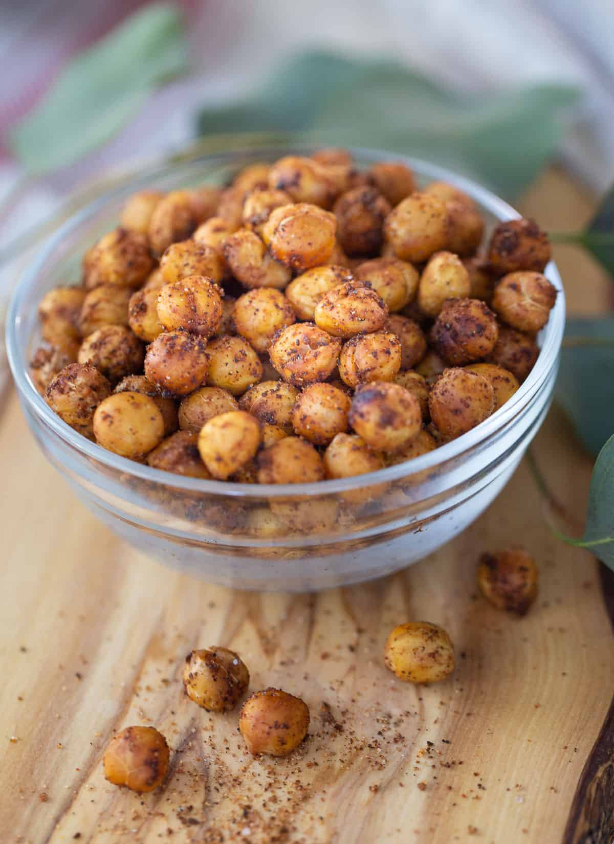 roasted chickpeas on a bowl
