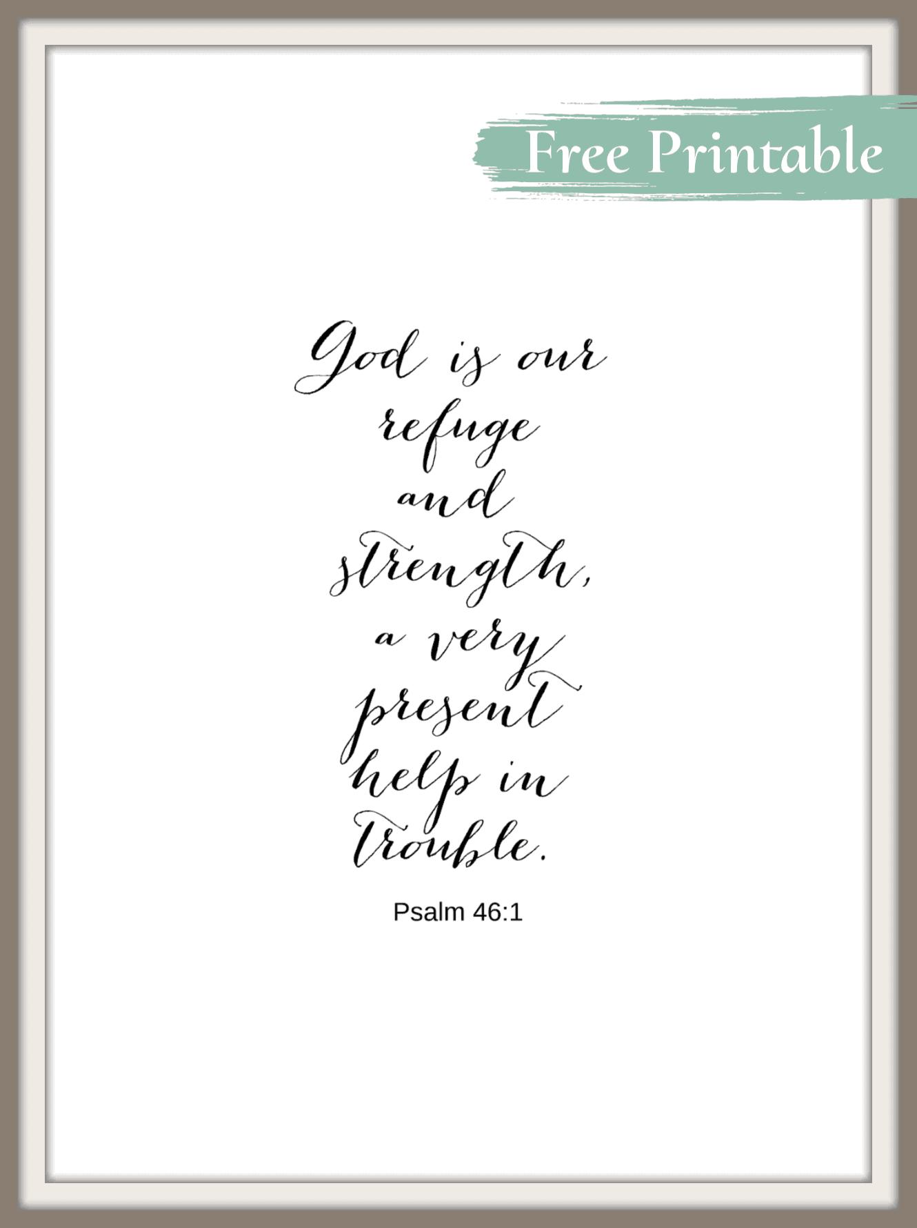 free printable psalm 46:1