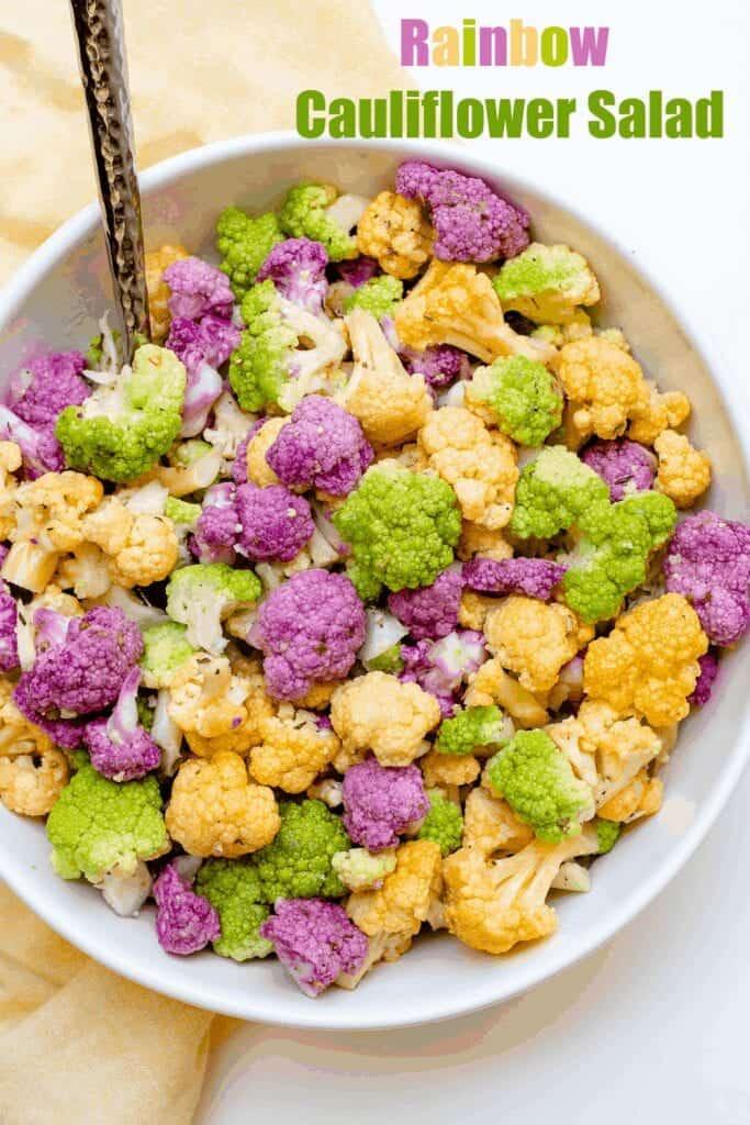 Rainbow Cauliflower Salad