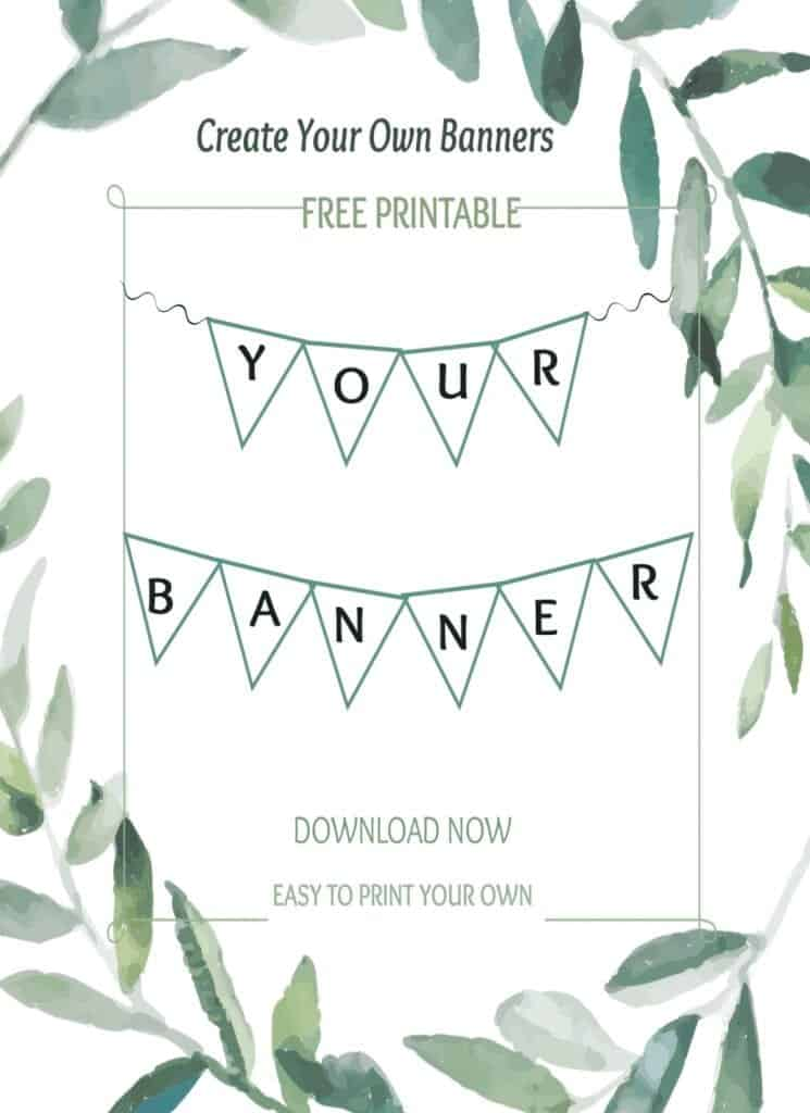 free banner printable