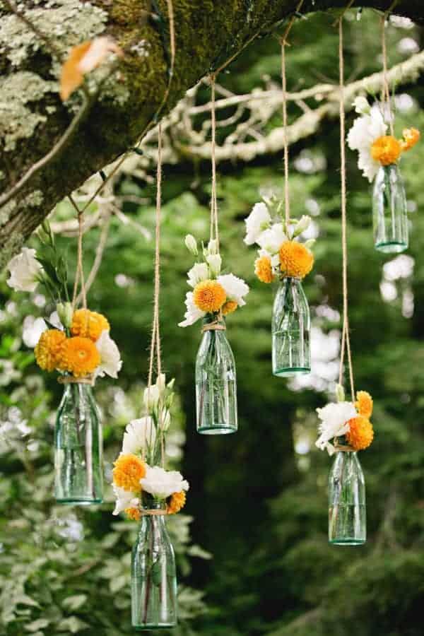 outdoor bottle decorations