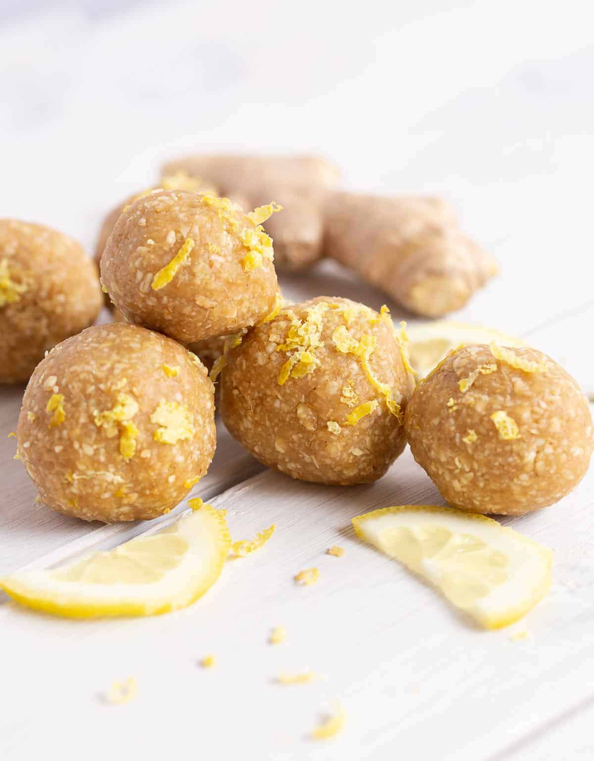 lemon ginger energy balls