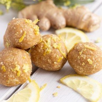 Lemon Ginger Energy Balls