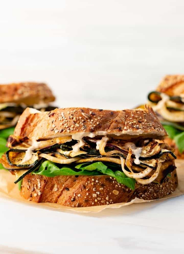 marinated grilled vegetable sandwiches