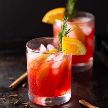 autumn spiced mocktail in a glass